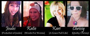 The Glue Crew: Joules, Me, Kari, and Chrissy!