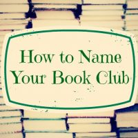 How To Name Your Book Club