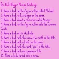 Bookish Fun: Memory Challenge
