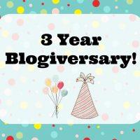 Three Year Blogiversary Giveaway!