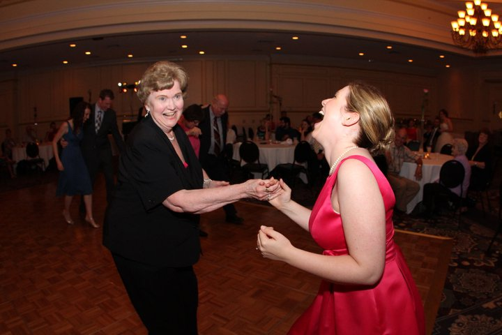 I'm dancing with my brother-in-law's mom who actually DOES know how to polka. She tolerated my nonsense beautifully.